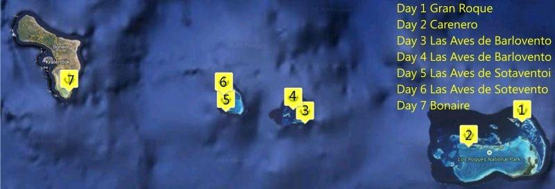 7 Days Sailing Los Roques-Bonaire